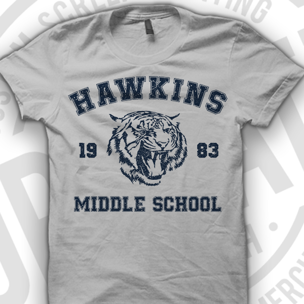 Hawkins Middle School Shirt Amazon 1983 1984 Hawkins Shirt T-Shirt