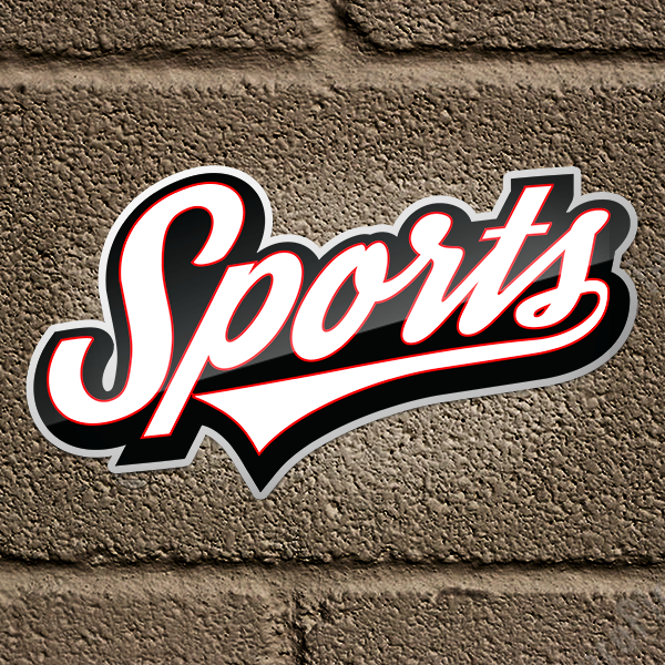 Funny Sports! Sticker Script Logo