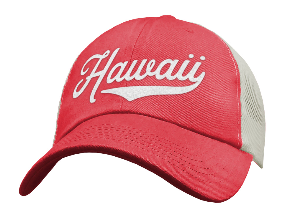 Cute Pink Hawaii Trucker Hat for Women & Men - Baseball Cap - Sports Snapback Mesh Low Profile Unstructured Aloha!
